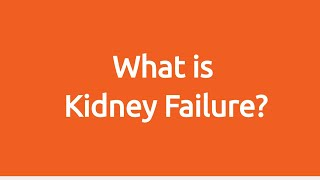 What Is Kidney Failure?
