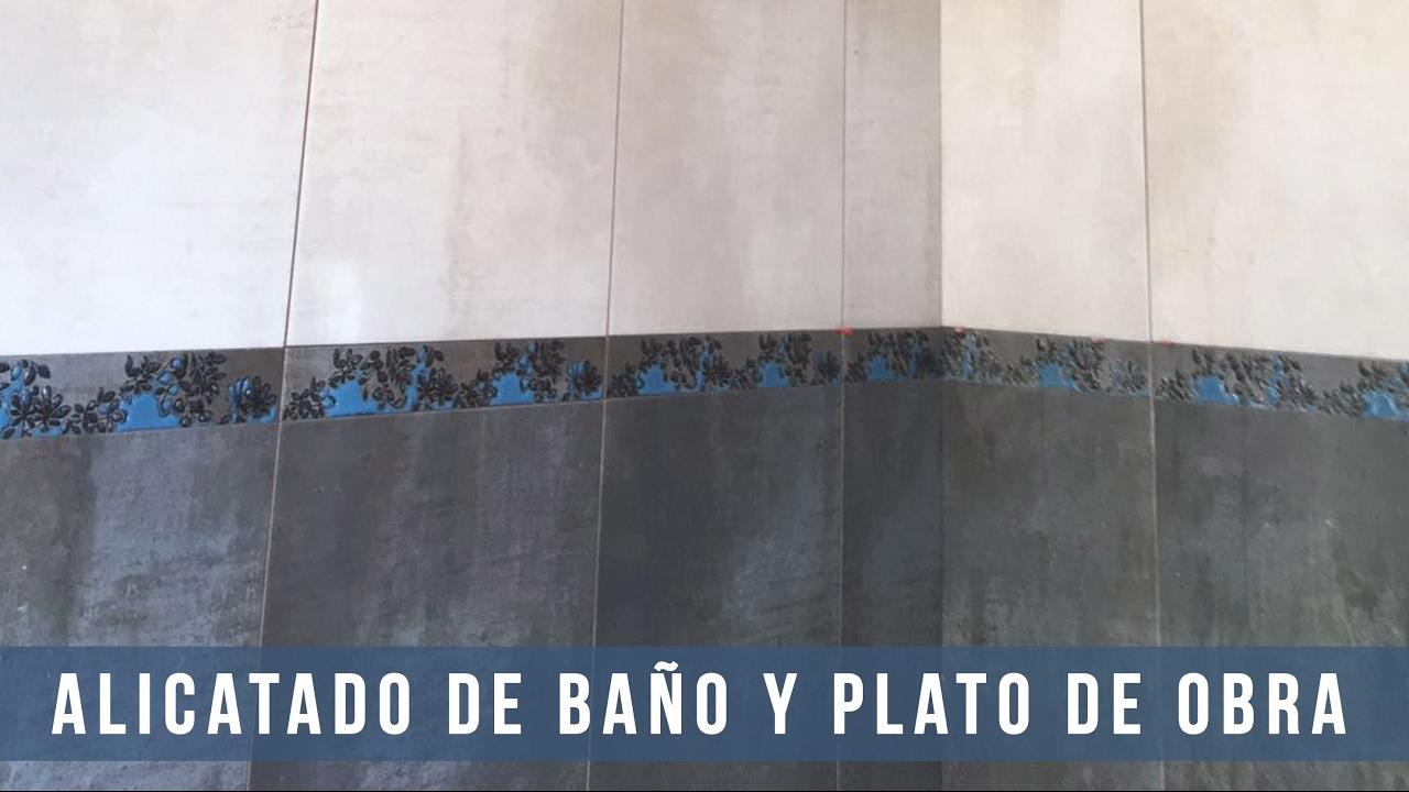 ALICATADO DE BAÑO Y PLATO DE OBRA - Cerni S.L. - YouTube