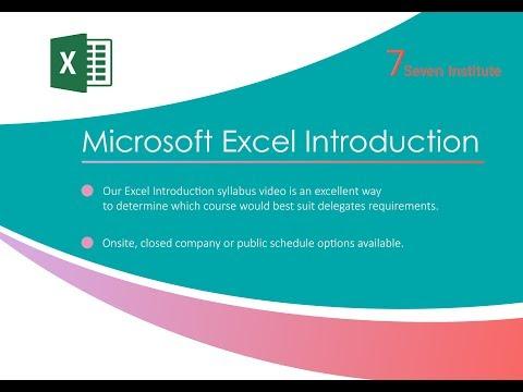 Excel Training Courses London | Seven Institute