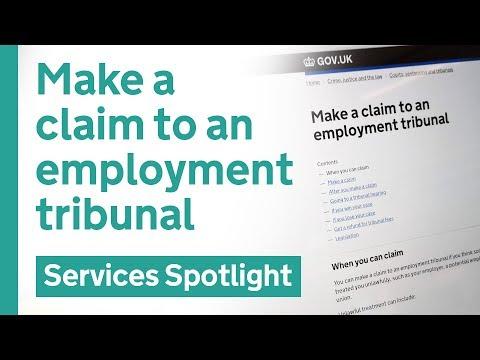Make A Claim To An Employment Tribunal On GOV.UK