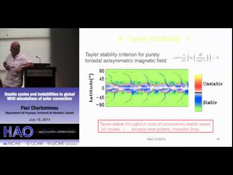 Paul Charbonneau | Univ de Montreal | Double cycles & instabilities in global MHD simulations