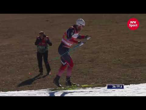 Incredible efficiency of double poling  Martin Sundby  NRK Sport