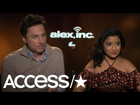 Zach Braff & Tiya Sircar Talk New Comedy 'Alex, Inc.'  Access