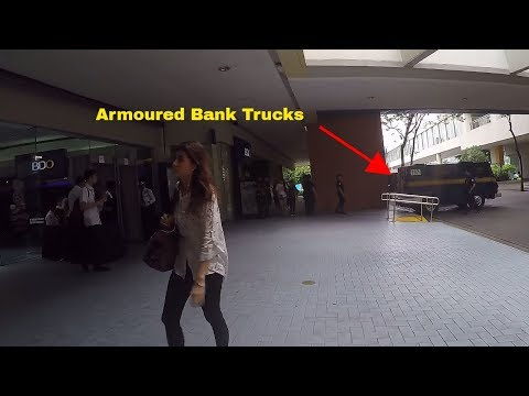 Mall Of Asia Security Entrance And Secure Armoured Bank Exchange