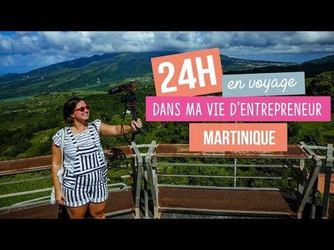 24h dans ma vie d'entrepreneur en voyage en Martinique