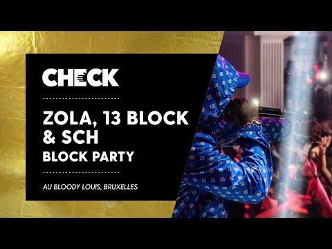 Youtube: Une soirée avec Zola, 13 Block & SCH à Bruxelles