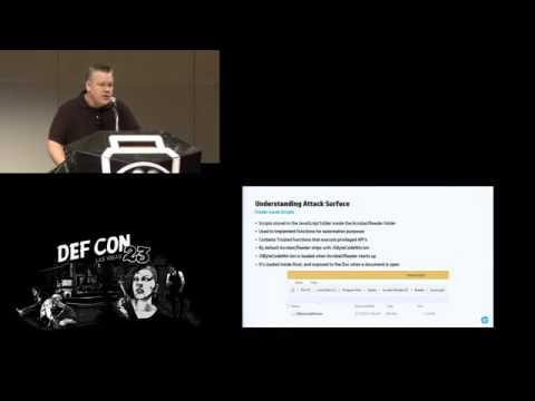 DEF CON 23 - Panel - Abusing Adobe Readers JavaScript APIs