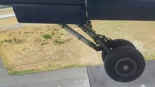 Landing Gear Retracting Take Off Roll Bombardier Q400