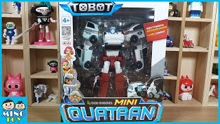 Tobot Mini Quatran C D R W 4 Cars combine! Most powerful integration ever! Unboxing Toy review!