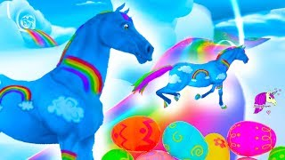 Rainbow Race, Color Changing Horses & Surprise Eggs ! Star Stable Online Let's Play Video Game