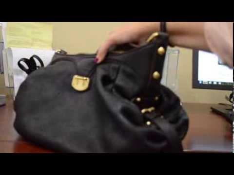Louis Vuitton Mahina Xl Black Leather Handbag