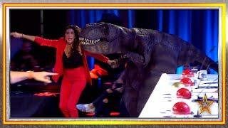 ¿Creías haber visto todo? ¡Un dinosaurio DJ llega al teatro! | Audiciones 5 | Got Talent España 2019