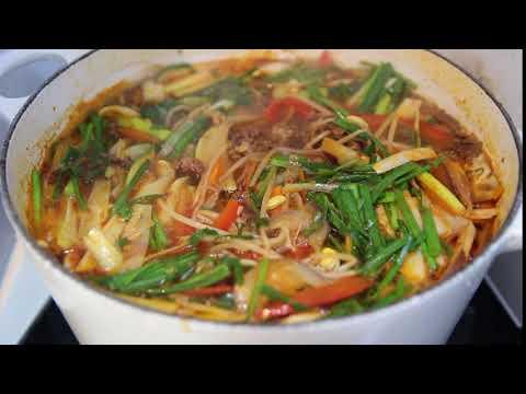 KOREANCOOKING.SG - Yukgaejang (Korean spicy beef soup, 육개장)