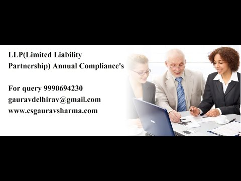 (Limited Liability Partnership )LLP Compliance Post formation