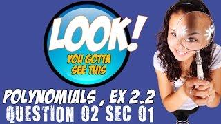 ncert solutions for class 10 maths polynomials ex 2 2 q2 sec i