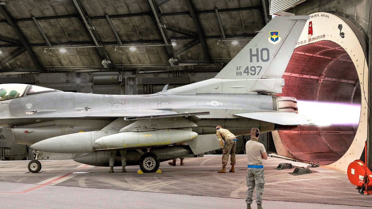 US Air Force Testing F-16 Jet Engine Afterburner to Its Extreme Limit