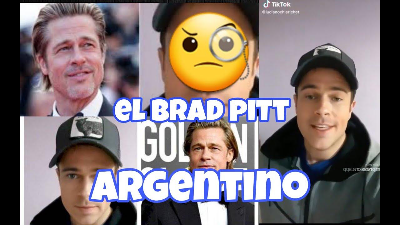 Tiktok de Brad Pitt . Video del tiktoker argentino igual a Brad Pitt