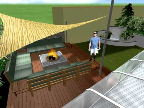 Roof terrace garden design youtube for Indian terrace garden designs