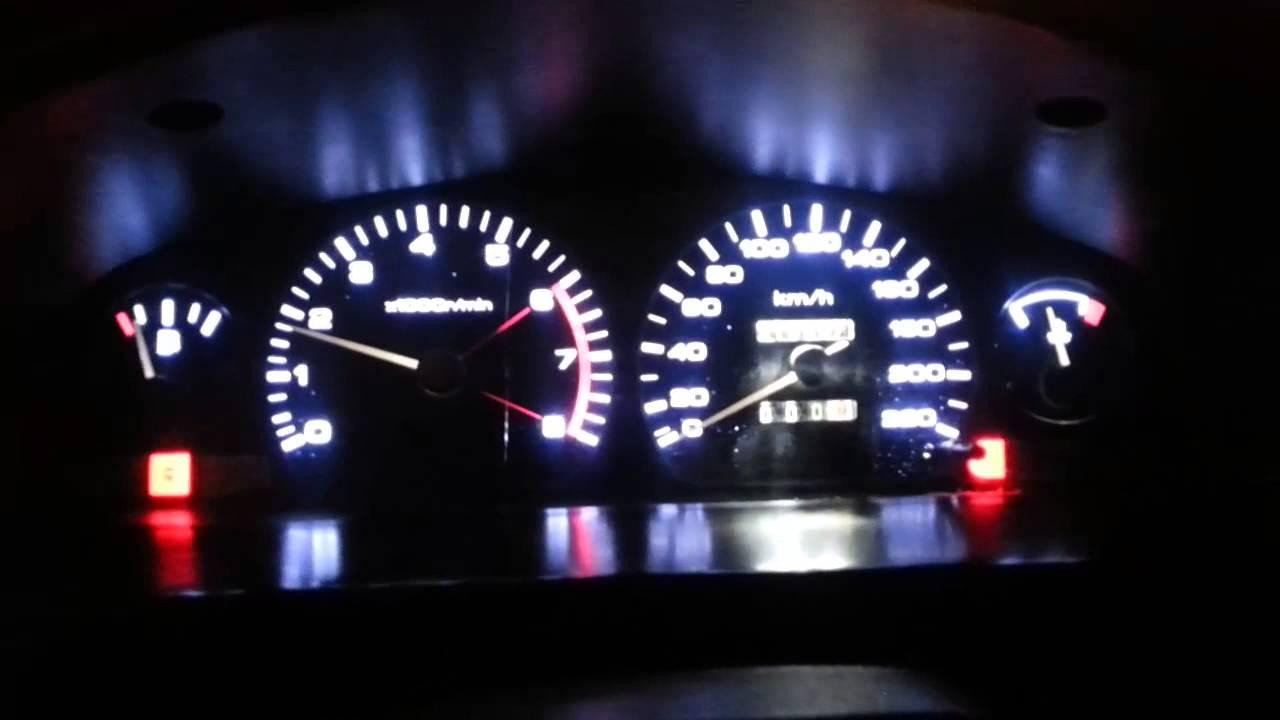 Iluminacion led Nissan sentra 1998 - YouTube