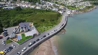 Birds eye view of Benllech Bay, Anglesey.