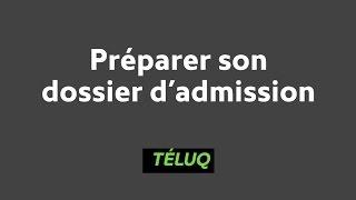 TÉLUQ - Préparer son dossier d'admission