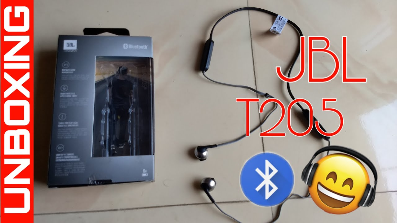 7c52774f7c9 JBL T205 BT Bluetooth Headphone Unboxing & Overview - YouTube
