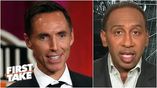 Stephen A. reacts to the Nets hiring Steve Nash as the next head coach | First Take