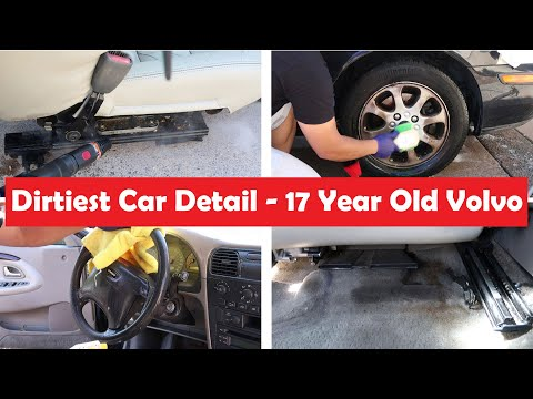 Dirtiest Car Detail - 10 Years without cleaning - 2002 Volvo V40
