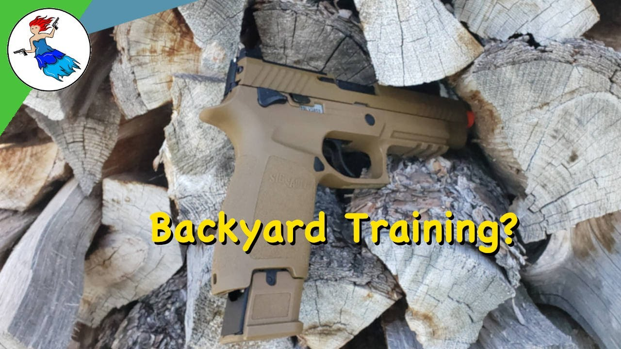 Sig M17 Airsoft // Affordable and realistic firearm training with no ammo at home?