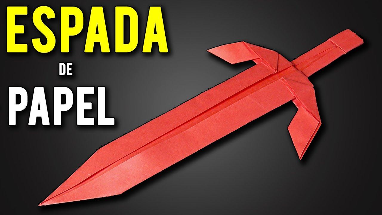 Como hacer una Espada de Papel Fácil y Rápido paso a paso   Espada de Origami