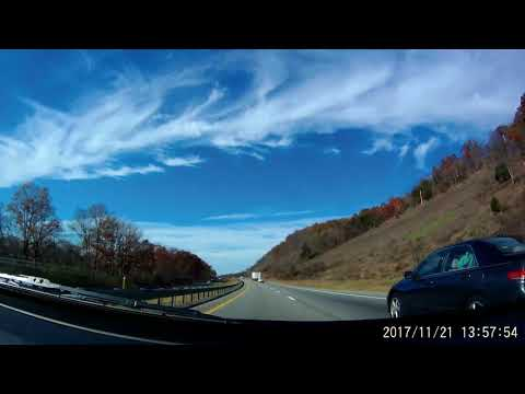 MD Interstate 70/Route 40 west exits 9 to 1 powerlines, high mast streetlights, and mountains