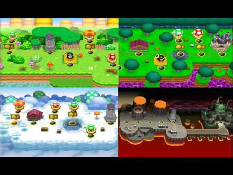 New Super Mario Bros Music Normal Medley Of World Map Themes Vgm Medley 12 Youtube