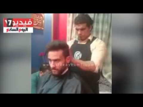 بالفيديو باسم مرسى يحلق شعره رضوخا لفرمان الزمالك اليوم السابع