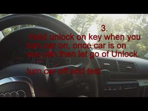 Audi A4 Remote key reset
