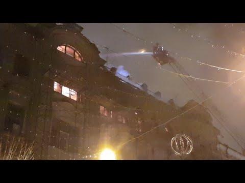 Масштабный пожар в Киеве на Богдана Хмельницкого