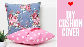 DIY Cushion Covers & Pillow Covers | How to Make a Pillow REALLY fast