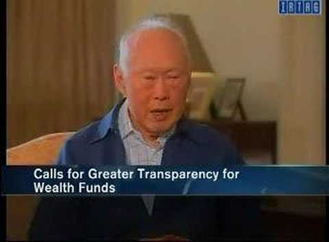 Lee Kuan Yew on Singapore sovereign wealth fund