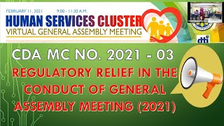 REGULATORY RELIEF IN THE CONDUCT OF GENERAL ASSEMBLY MEETING (2021)