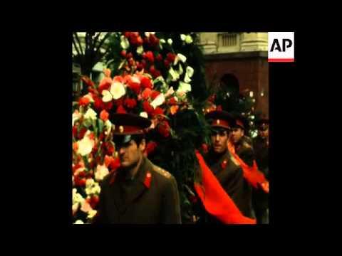 UPITN 30 4 76 FUNERAL OF SOVIET HERO GRECHKO