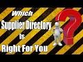 Supplier directories - Doba, World Wide Brands, Salehoo, Best for Dropshipping