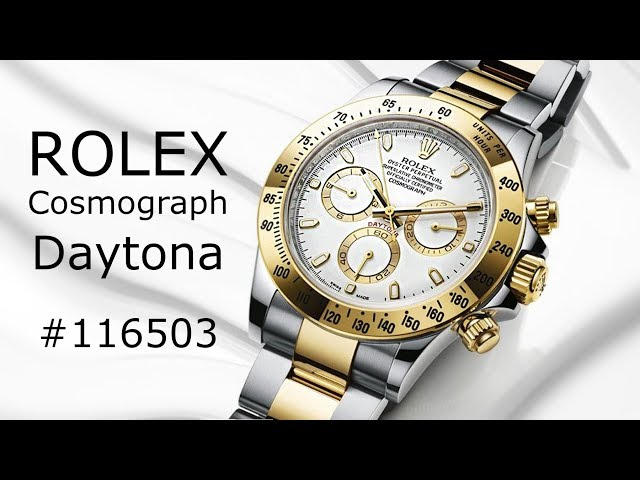 Rolex Cosmograph Daytona Watch White Dial Stainless Steel and 18K Yellow Gold 116503 Bigwatchbuyers