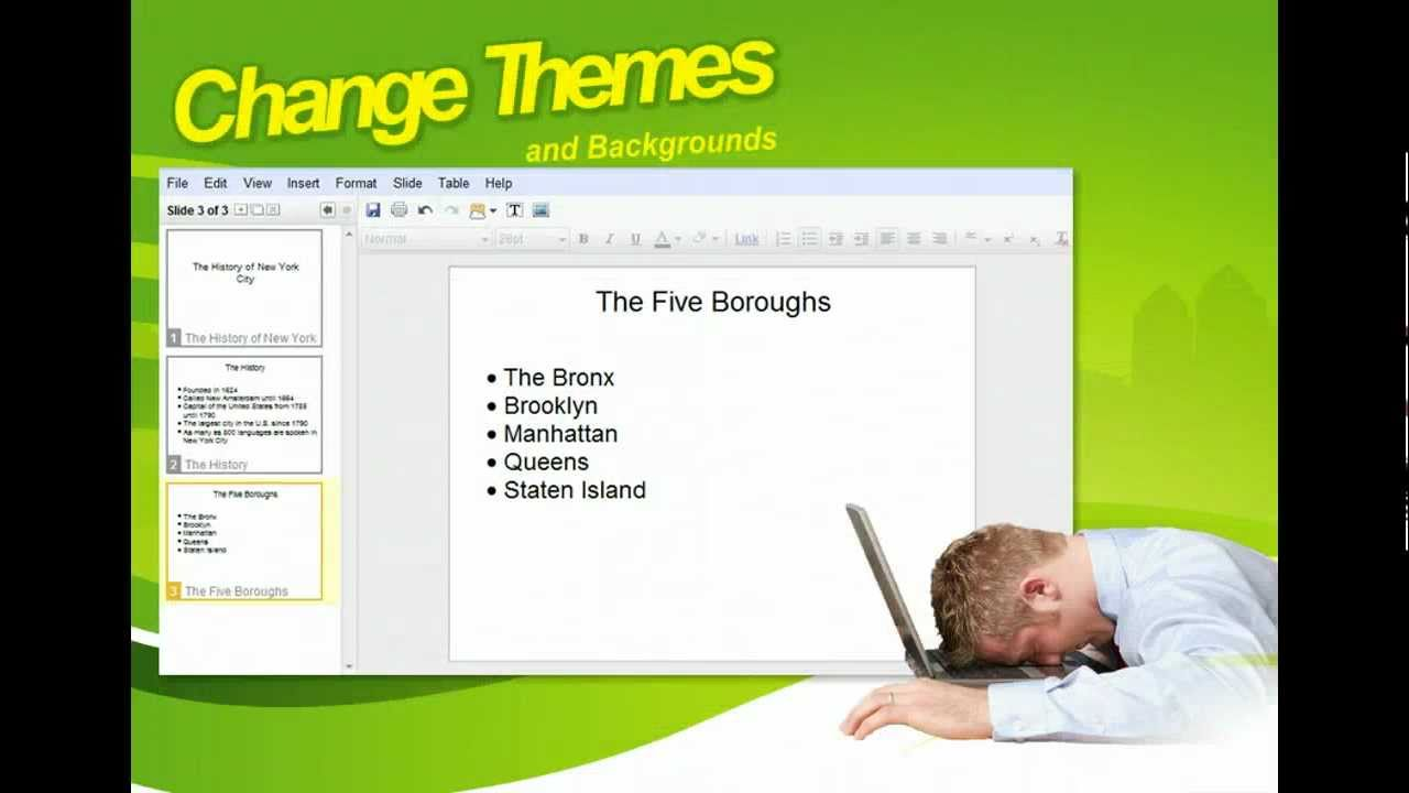 google presentations change themes and backgrounds google tools