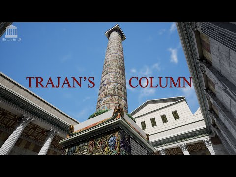 """HISTORY IN 3D"" - ROME 320 AD - Trajan's column FULL-PAINTED 3D reconstruction"