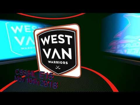 West Van Warriors E15 - Nov 10 vs PCHA