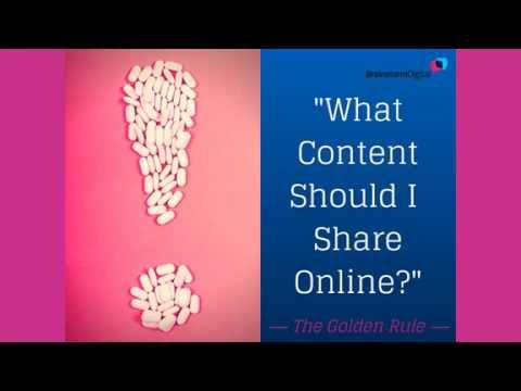 What content should Pharma suppliers and consultants share online?