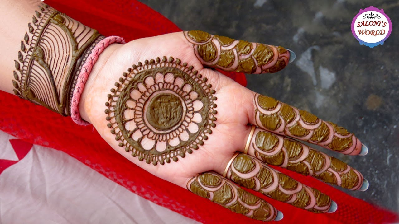 Simple Arabic Henna Gol Tikki 3d Henna Tattoo Designs Mehndi
