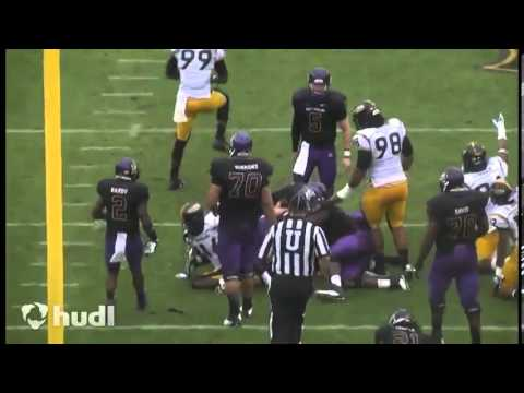 Dylan Reda #55 Linebacker Southern Miss VS.East Carolina