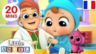 Comptine Bébé Chez Le Médecin - Dessin Animé Éducatif  - Docteur, BINGO, Famille Doigts