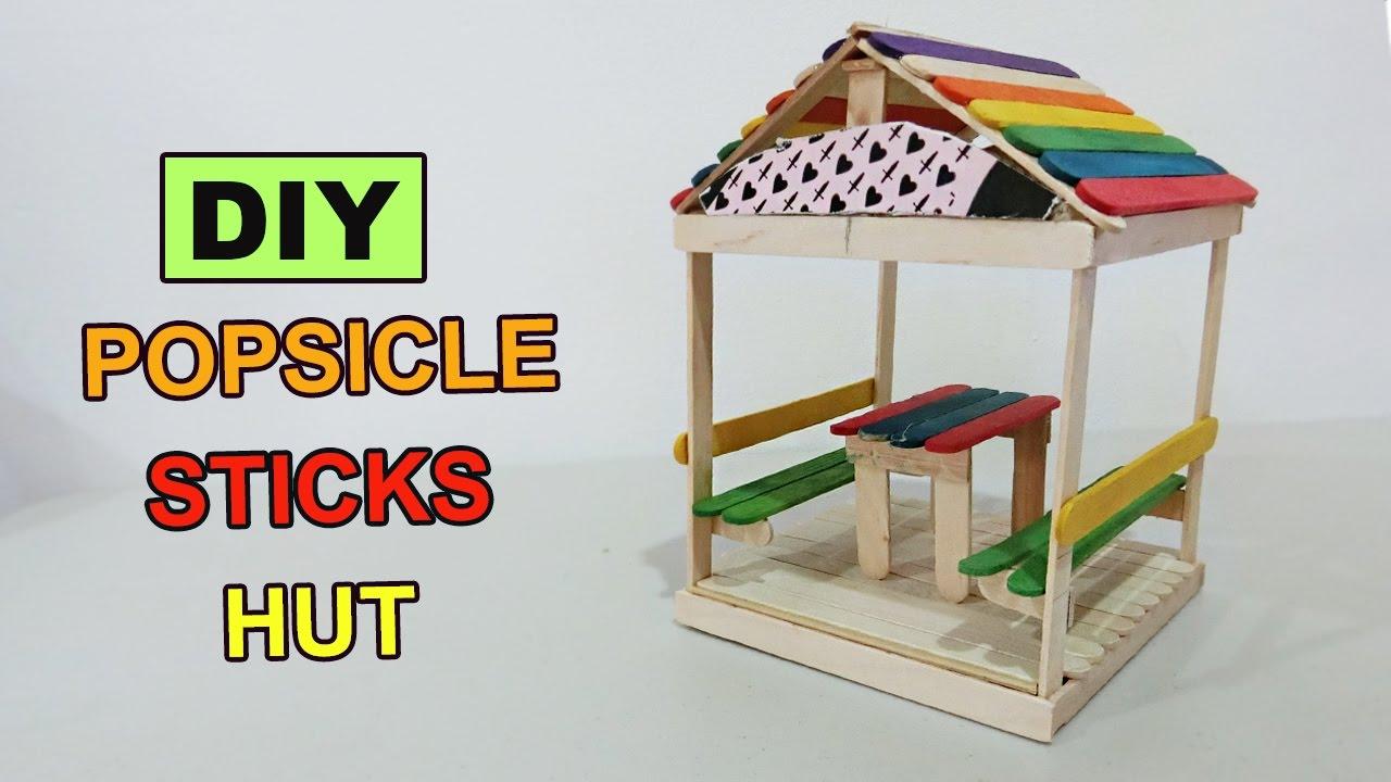 DIY Popsicle Sticks Hut 2