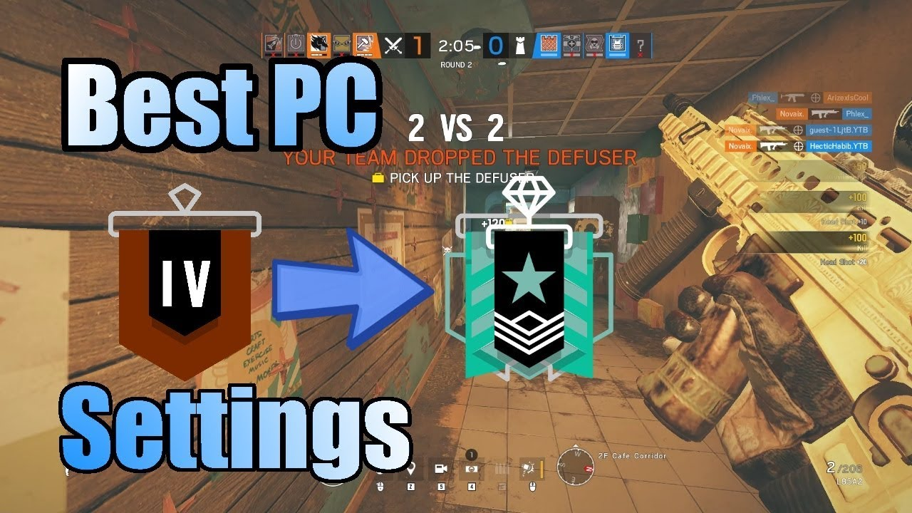 BEST SENSITIVITY / SETTINGS For Rainbow Six Siege | Giveaway With Vanquish|  BTW Beaulo |